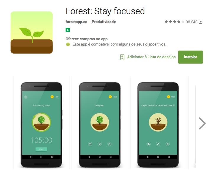 Forest Stay Focused - Aplicativos Produtividade